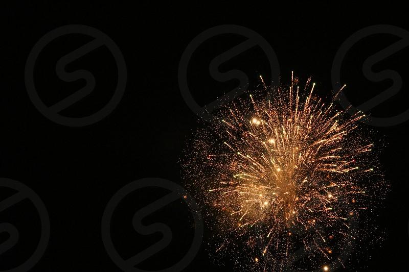 fuegos artificiales en año nuevo photo