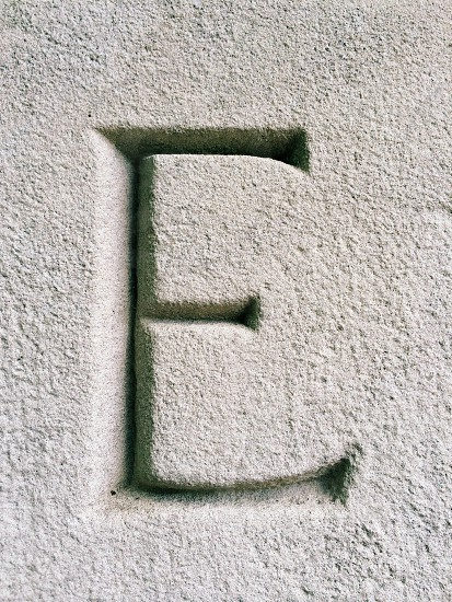 letter E on wall photo