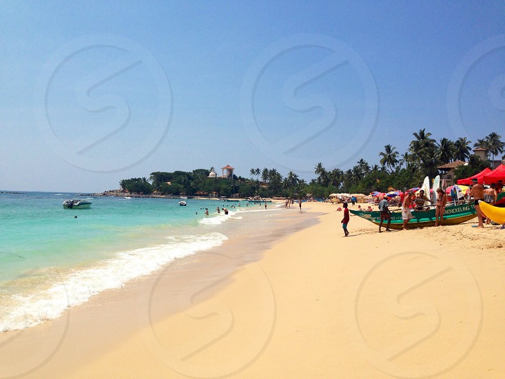 Paradise. Beach. Sand. Sea. Sri Lanka photo