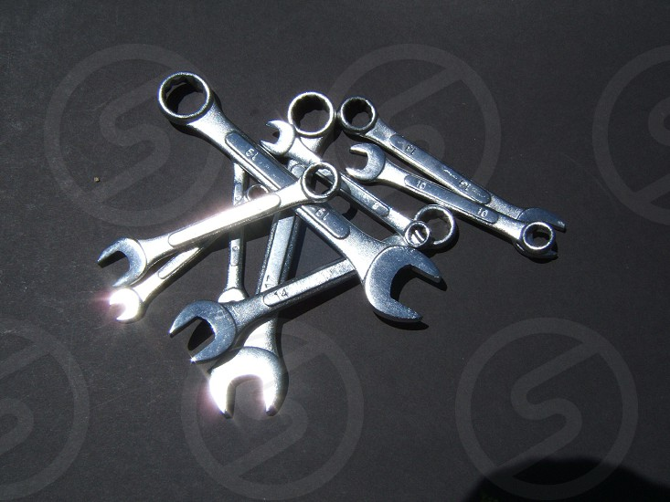 Wrenches with light and shadow. Tool tools mechanic wrench photo