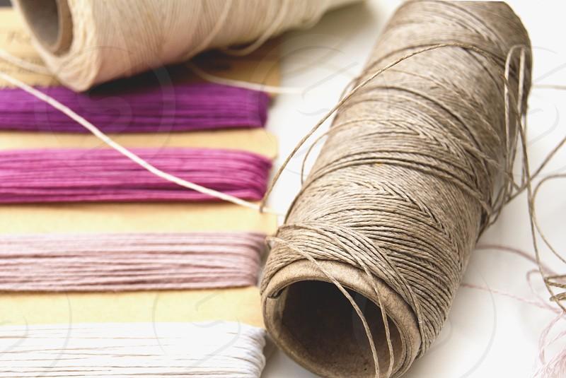 Beading threads linen and hemp. photo