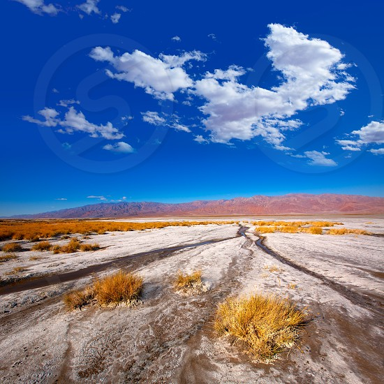 Death Valley National Park California Badwater salt soil desert photo
