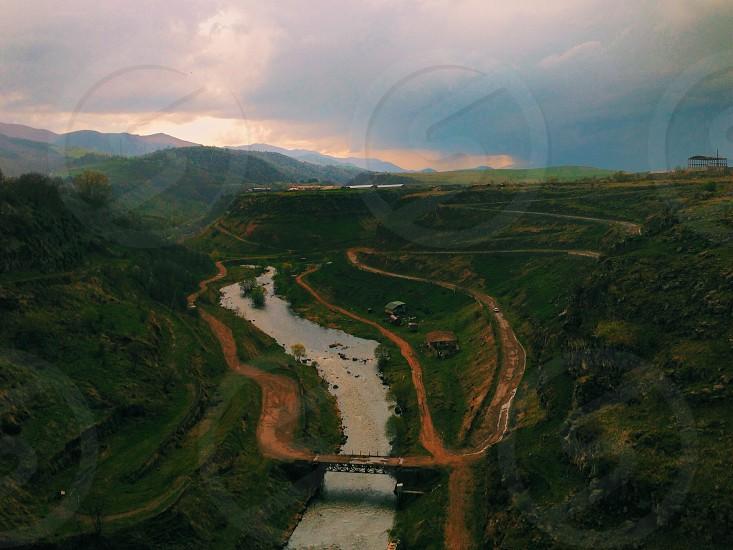 The Dzoraget Gorge as viewed from Stepanavan Armenia photo