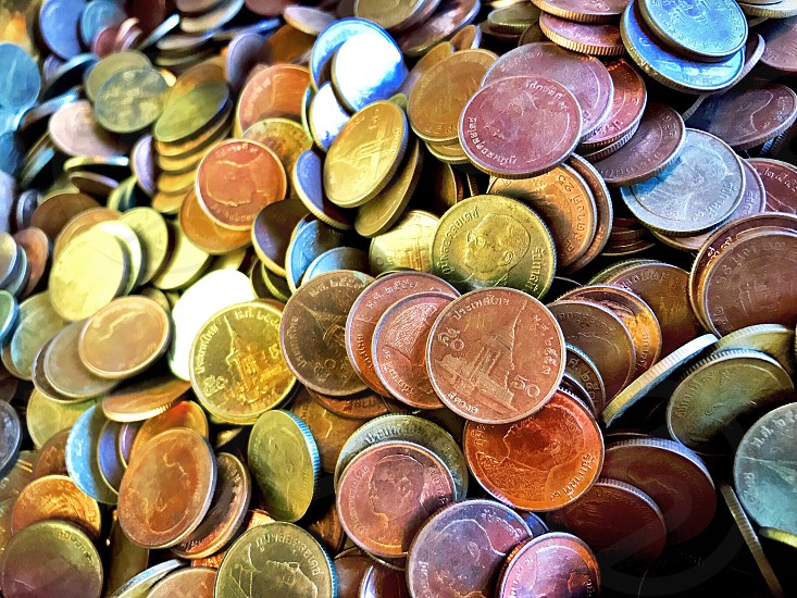 money cash coin satang mint baht copper gold silver price worth value pay bank interest rich save buy photo