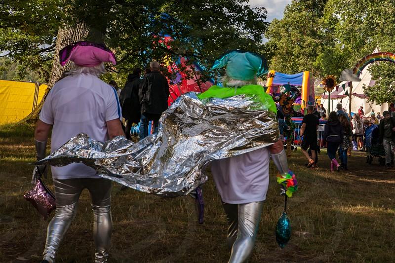 Sunny music festival in England photo