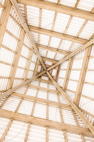 THE ABSTRACT | Looking straight up from under the boardwalk in Seacrest FL.  I love the architecture of this building. photo