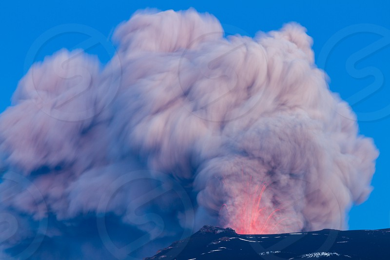 Eruption of the famous Icelandic volcano Eyjafjallajokull. Its ashes paralysed the European airspace in 2010 causing misery for lots of passengers around the world. I saw it live. photo