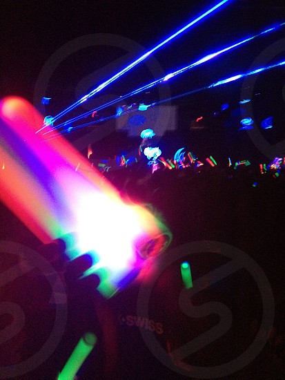 Rave concert lights photo