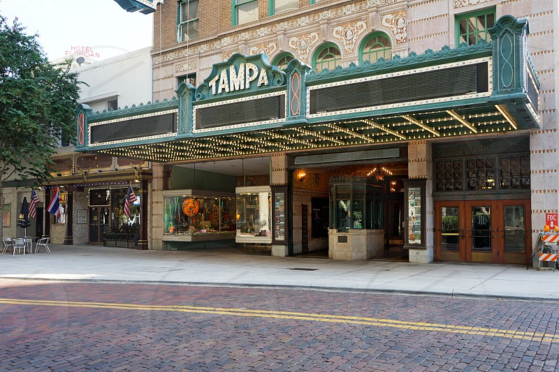Tampa Theater in Tampa; historic movie theater.  photo