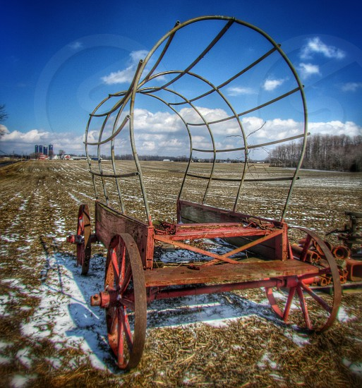 Old country wagon photo