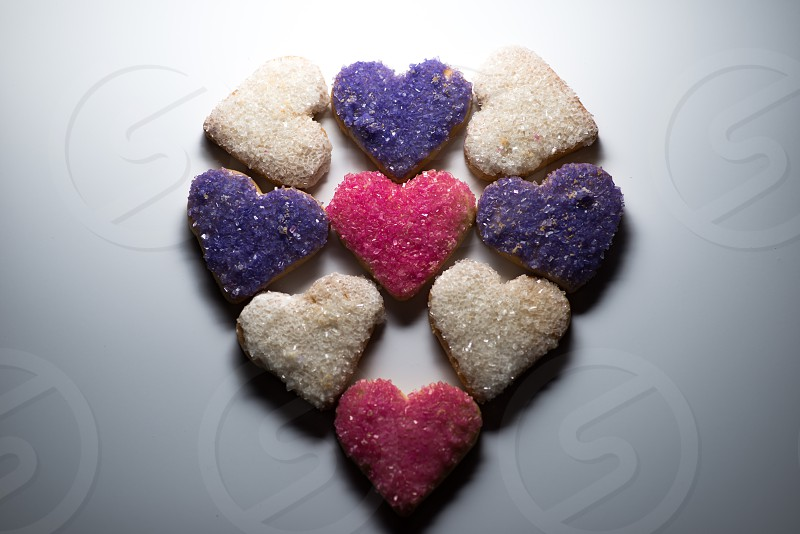 A heart of cookie hearts photo