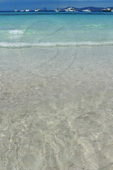 Illetes Formentera beach turquoise mediterranean Balearic islands photo