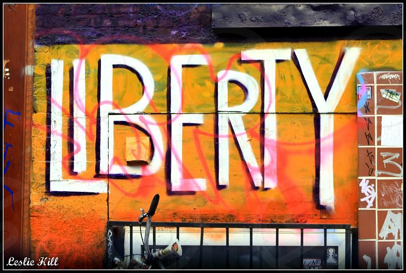 liberty graffiti photo