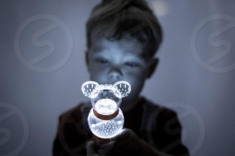Disney Mickey toy Boy Low Light Wonder Amazement toddler monochromatic photo