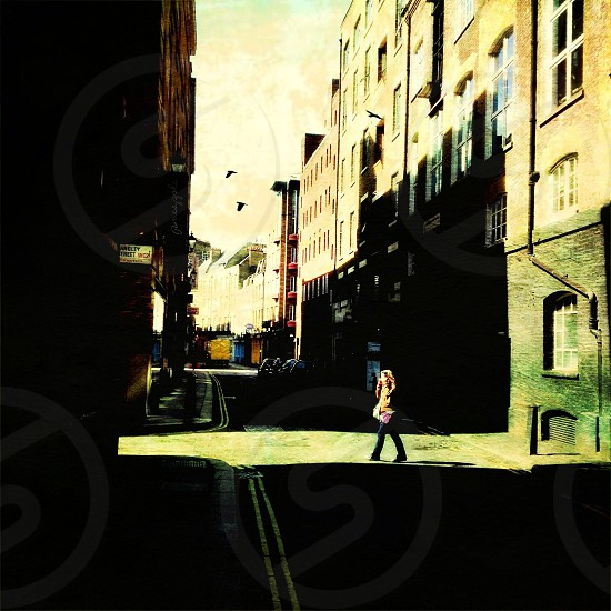 woman walking in the street  photo