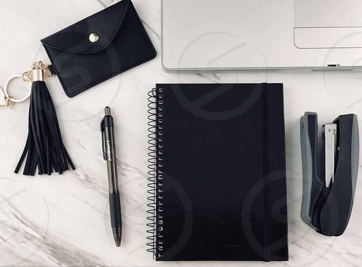Elegant black challenge desk photo