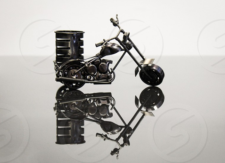 bicycle bike reflection  model steel metal glass little gear motorcycle photo