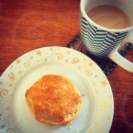 Biscuit coffee breakfast yummy warm food photo