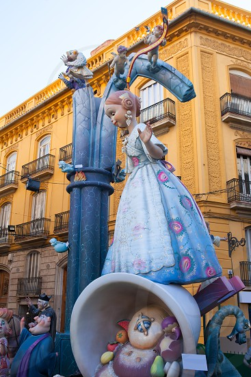 Fallas in Valencia fest figures that will burn on March 19 traditional popular celebration photo