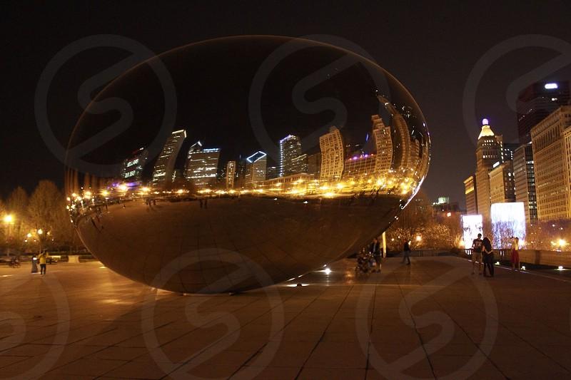 stainless steel oblong landmark  photo