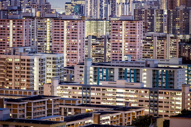 Singapore skyline cityscape public housing architecture photo