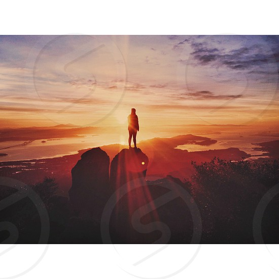man standing silhouette photography photo