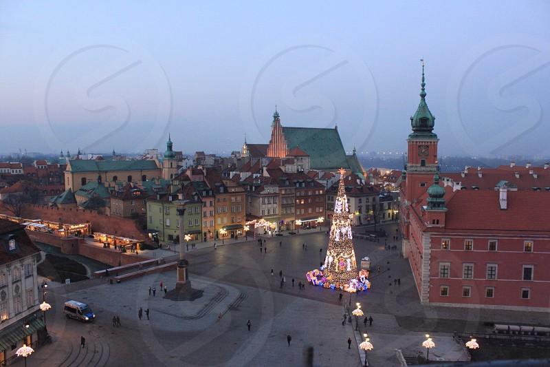 Christmas Warsaw Christmas tree lights festive photo