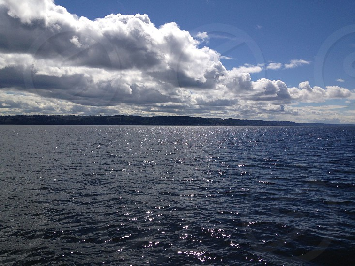 Whidbey Island sea and clouds  photo