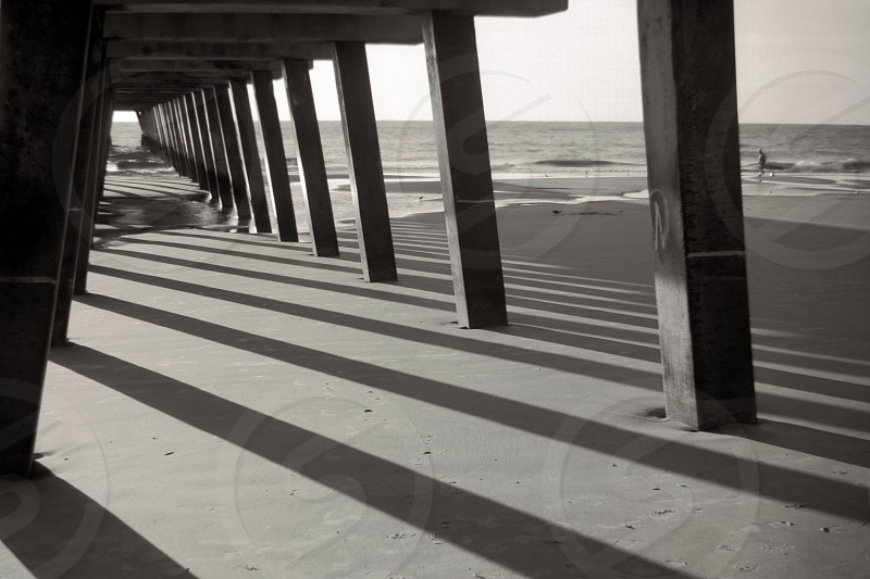 Under Tybee Dock in the early morning photo