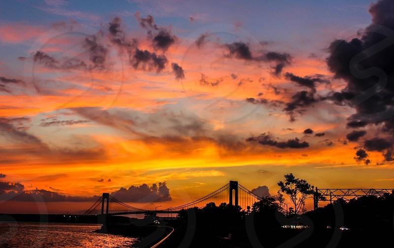 Verrazano Bridge at sunset ... photo
