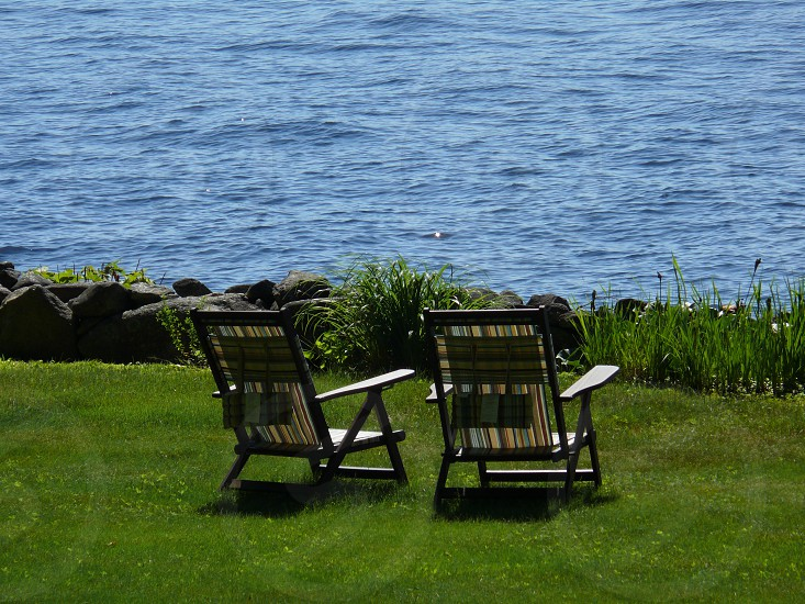 lakeside Maine vacation relax light photo