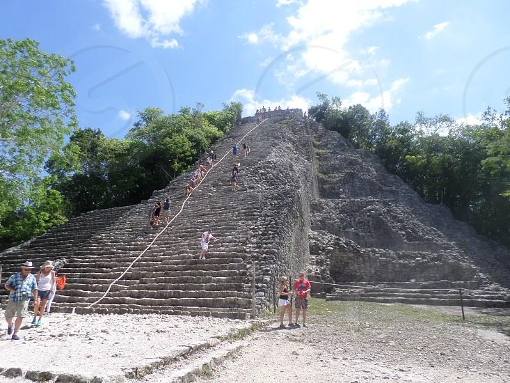 coba maya in mexico photo