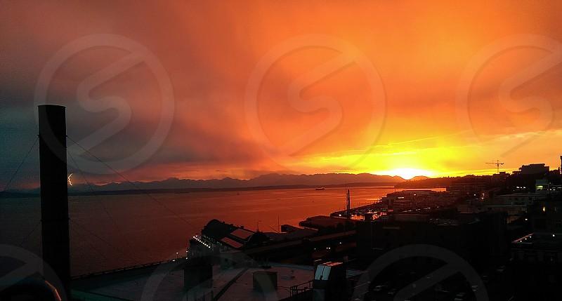 Storm over Olympic Peninsula photo