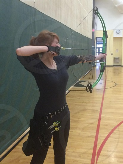 Archery girl photo