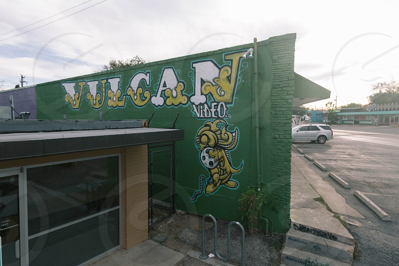 Vulcan Video mural on North Loop Blvd in Austin TX. photo
