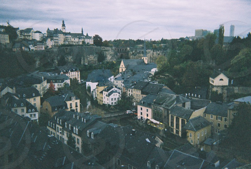 Luxembourg city vintage photo