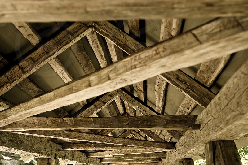 Pattern Wood. Trusses. photo
