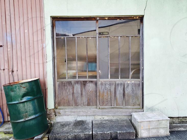 Old Japanese shop door photo
