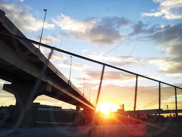 Japan Yokohama bay bridge photo
