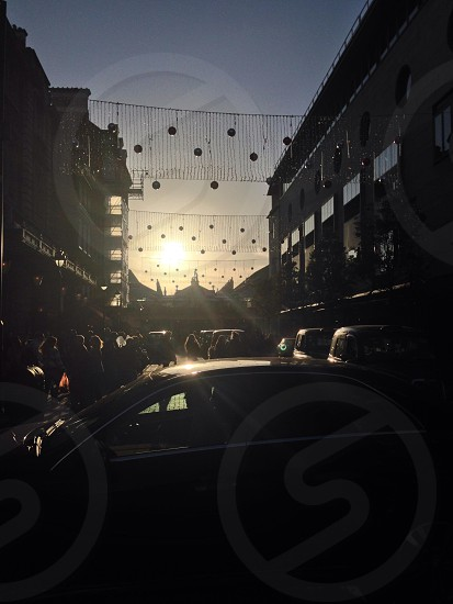 Covent Garden London..I was amazed by the Sun set.. photo