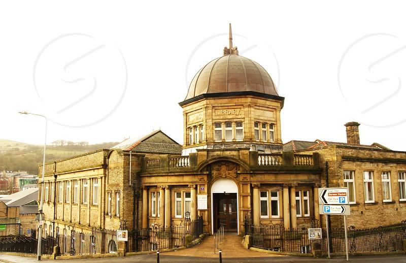 UK. ENGLAND. DARWEN. The Library photo