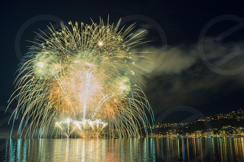 Fireworks in Wellington New Zealand photo