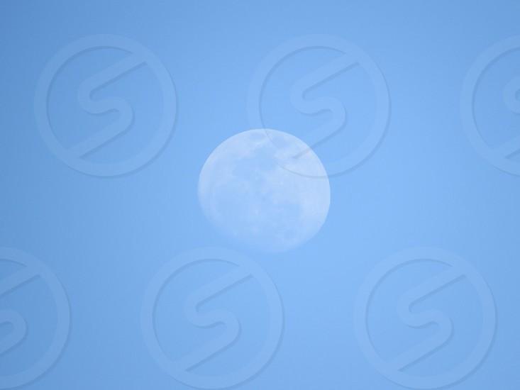 Moon in daylight. photo