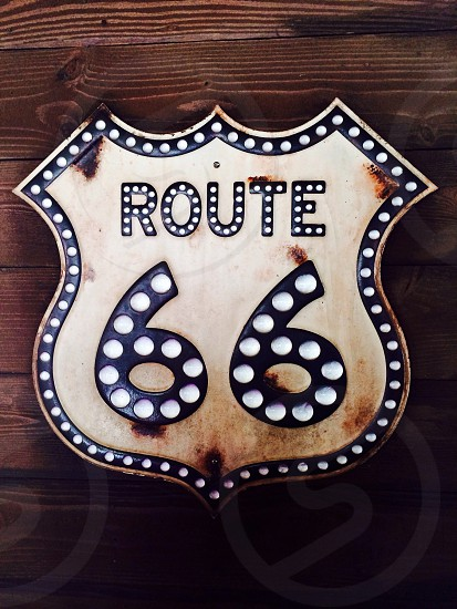 Route 66 road sign photo