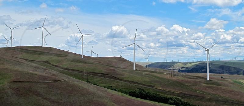 Columbia Gorge wind turbines photo
