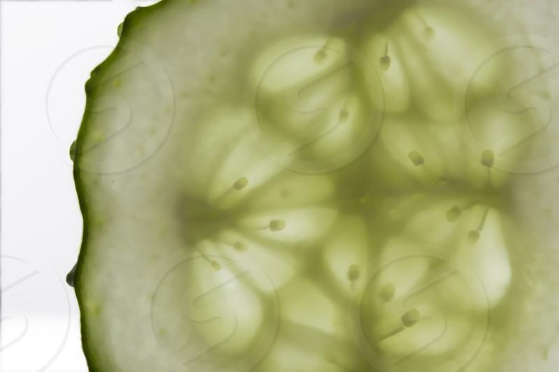 Closeup of a cucumber photo