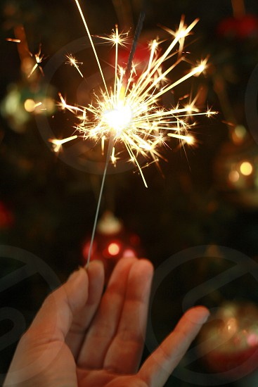 Happy New Year with sparklers 4 photo