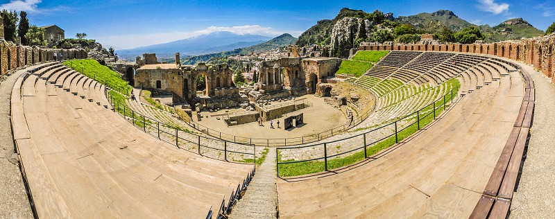 Taormina sicily italy holidays tourism theatre  photo