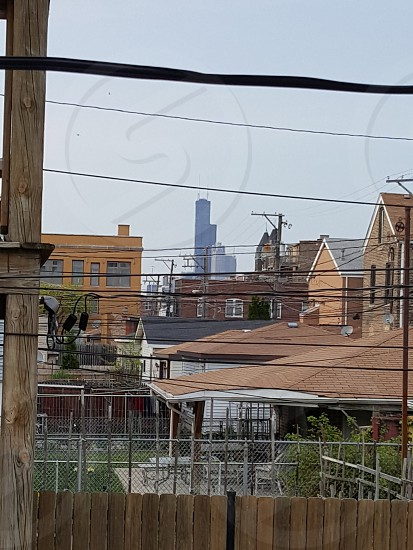 Downtown Chicago view from the Bridgeport neighborhood photo