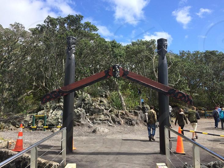 New Zealand Rangitoto island Maori photo